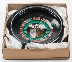 Jeu De Roulette. France, 1987. Black Bakelite Wheel
