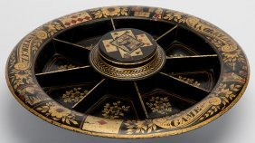 Pope Joan Game. Circa 1890. Lovely Hand Painted Game