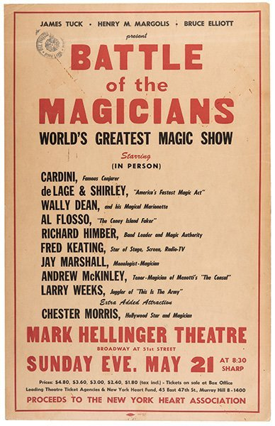 Battle of the Magicians. World's Greatest Magic Show.