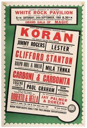 Koran, Al (edward Doe). Grand Gala Of Magic. Koran.