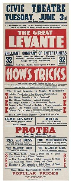 Levante, Les (leslie George Cole). The Great Levante.