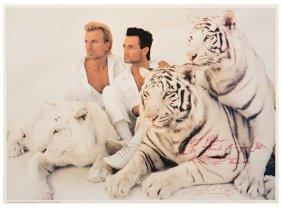 [siegfried & Roy]. Siegfried & Roy And White Tigers.