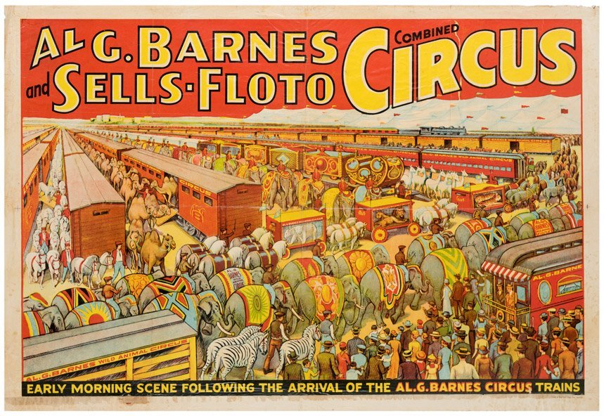 Al G. Barnes and Sells-Floto Combined Circus. Erie: