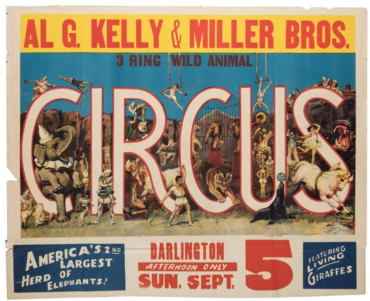 Al. G. Kelly and Miller Brothers Three Ring Wild Animal