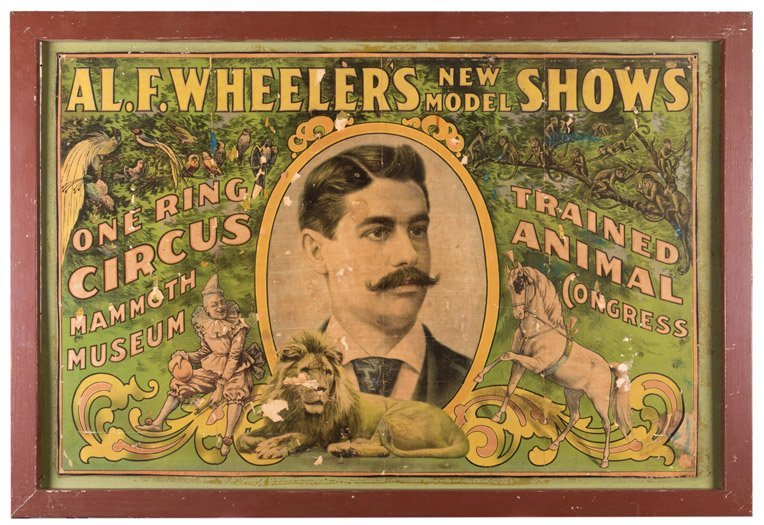 Al. F. Wheeler's New Model Shows. One Ring Circus,
