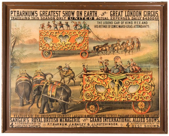 P.T. Barnum's Greatest Show on Earth. The Legend Car of