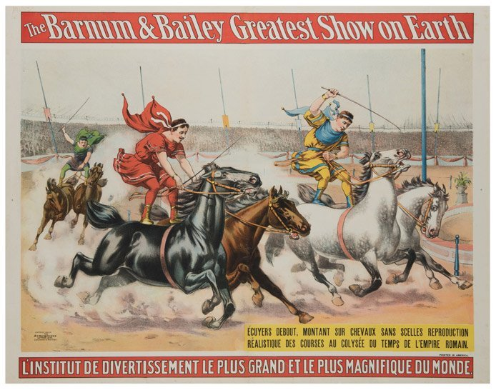 Barnum and Bailey Greatest Show on Earth. Charioteers