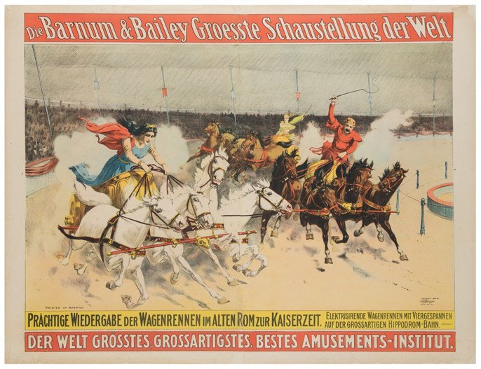 Barnum and Bailey's Greatest Show on Earth. Charioteers