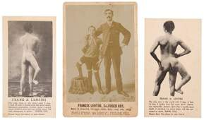 Francis Lentini 3-Legged Boy. Sideshow Cabinet Card.