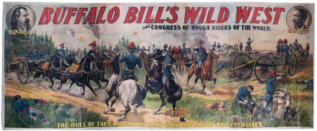 Buffalo Bill - ca. 1890 large billboard poster