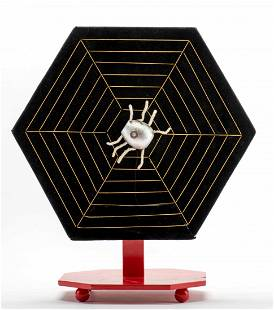 Card Spider. French [?], ca. 1950. A faux spider at the