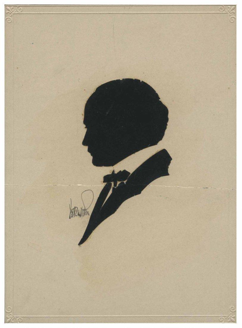[Houdini, Harry] Silhouette of Harry Houdini Cut by Dai