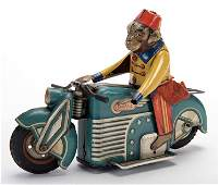 Monkey with a Fez Motorcycle. Germany: Gama, ca. 1940s.