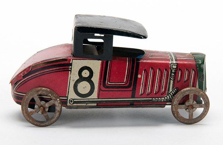 Red Racer #8. Early twentieth century. Tin litho