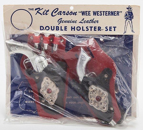 Kit Carson Wee Westerner Double Holster Cap Gun