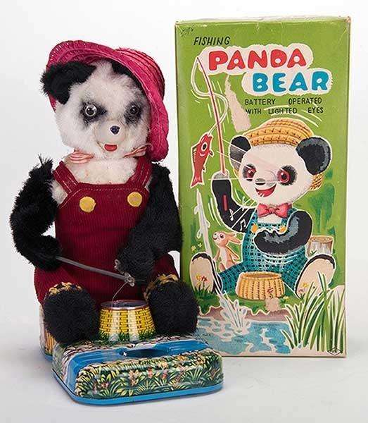 Fishing Panda Bear. Japan: Alps, mid-twentieth Century.