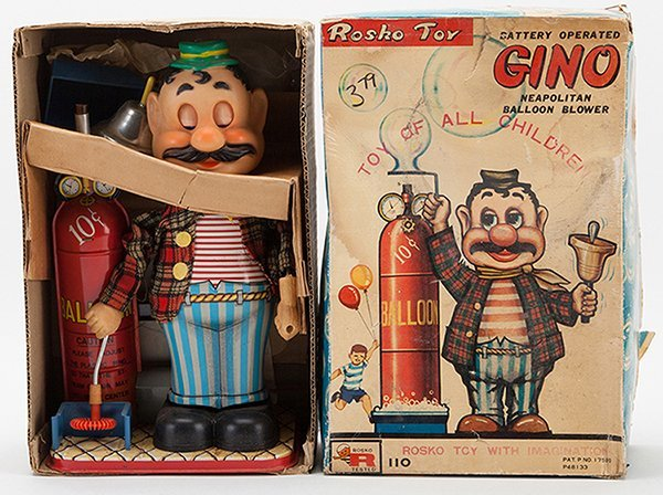Gino Neapolitan Balloon Blower Toy. Japan, Rosko,