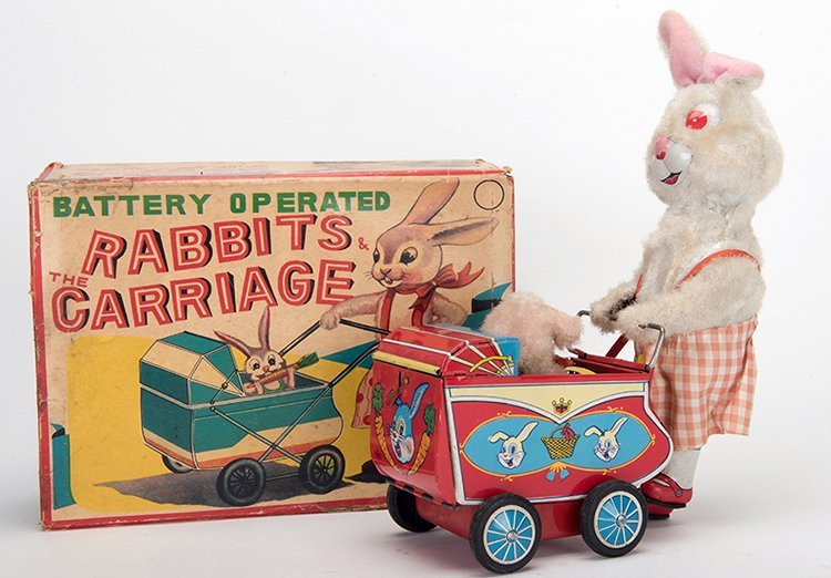 Rabbits and the Carriage. Japan: S&E, mid-twentieth