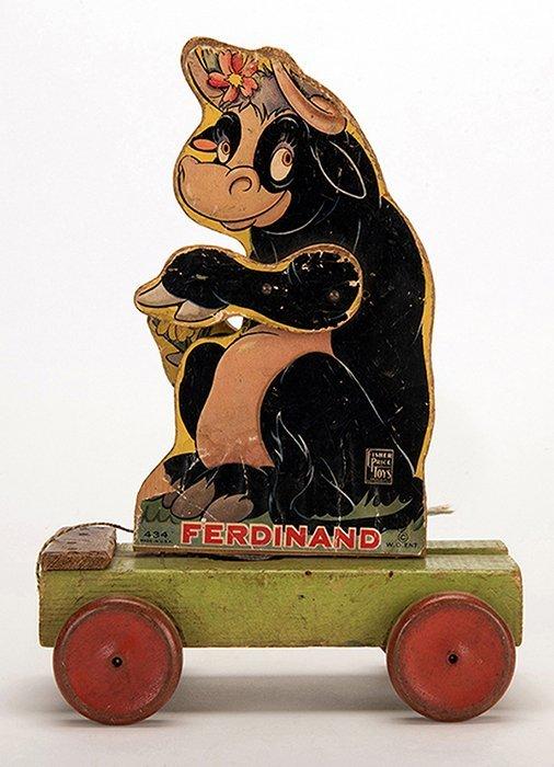Ferdinand Pull Toy. New York: Fisher Price, ca. 1939.