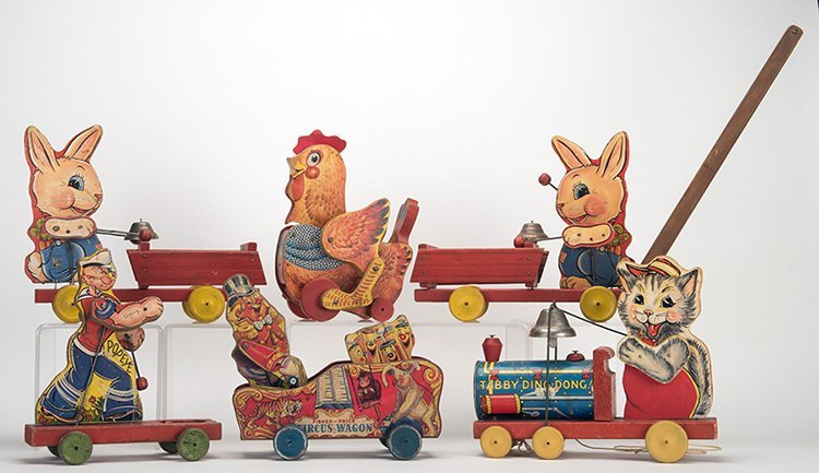 Group of Six Fisher Price Push/Pull Toys. New York: