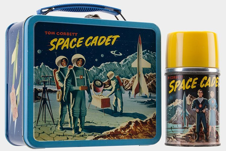 Tim Corbett Space Cadet Lunchbox with Thermos.