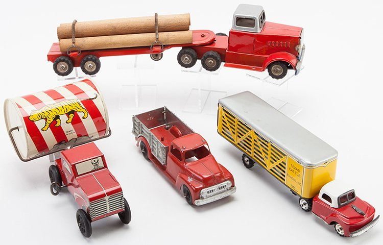 Lot of Four Vintage Toy Trucks. Japanese and American,