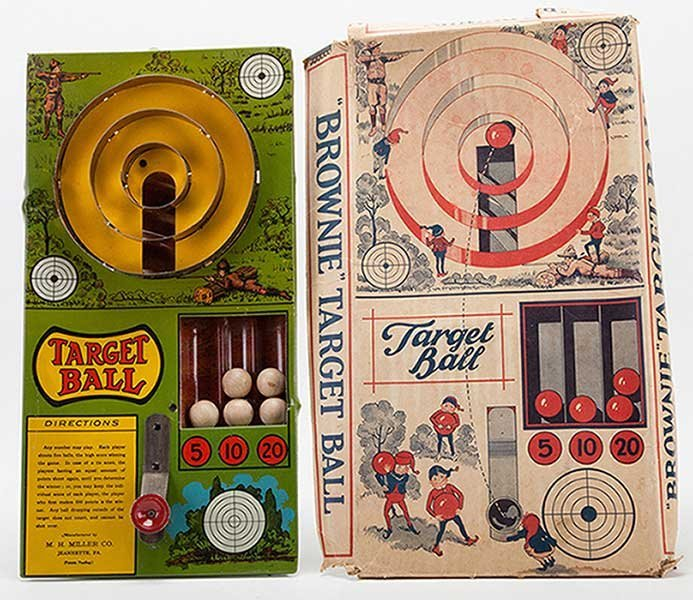 Brownie Target Ball Game Set In Box. Jeanette, Penn.: