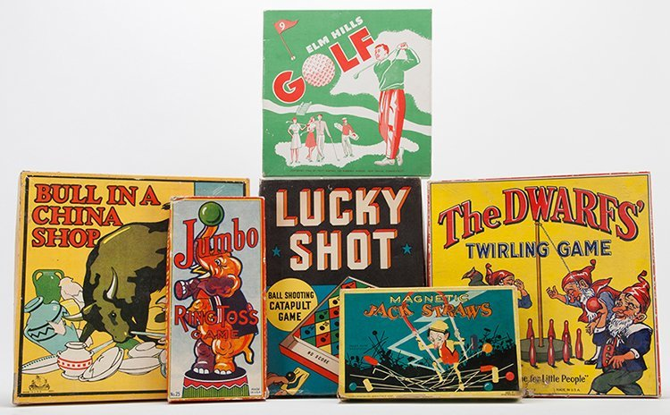 Group of Six Vintage Games. Various dates and