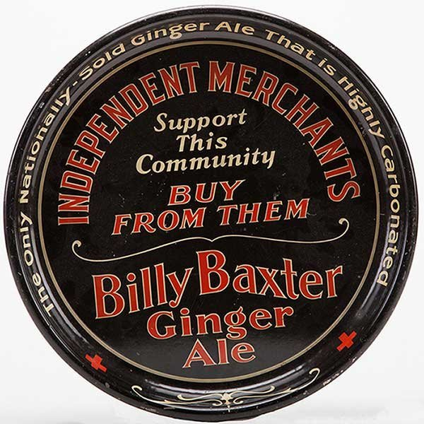 Billy Baxter Ginger Ale Round Tray. Pittsburgh, PA:
