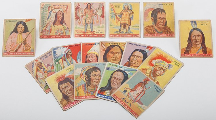 Goudey Indian Chewing Gum Cards. Boston: Goudey Gum