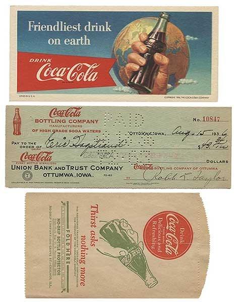 Group of Coca-Cola Advertising and Ephemera. 1940s _