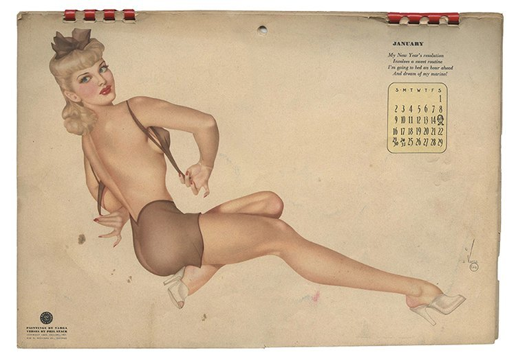 Vargas, Alberto. Esquire Pin-Up Calendar. Chicago,