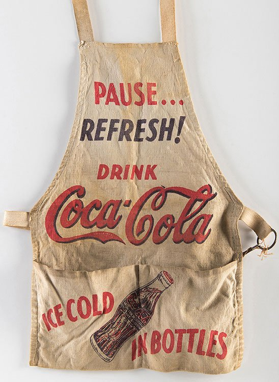 Coca-Cola Server Apron. Atlanta, Georgia: Coca-Cola