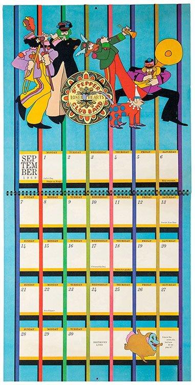 The Beatles Yellow Submarine Calendar. New York: