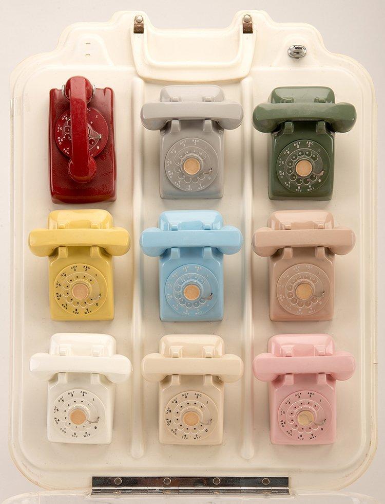 Salesman Sample Rotary Phone Display. Maker unknown,