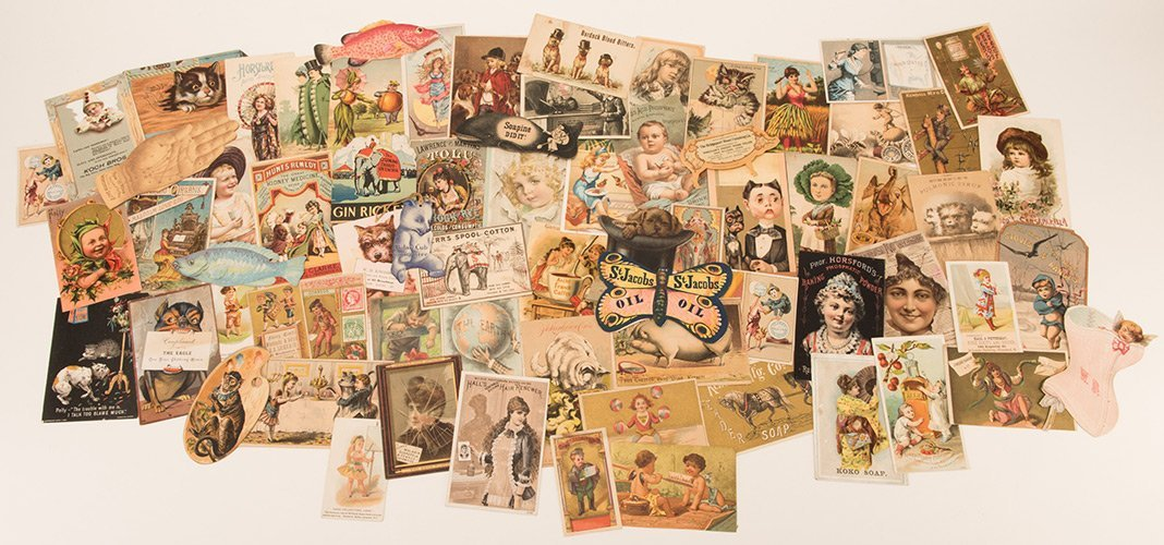 Album of Over 400 Victorian Trade Cards. Including