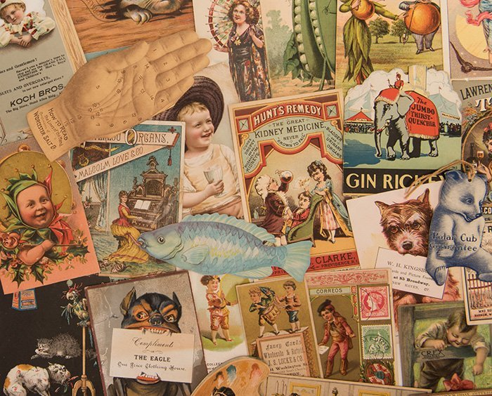Album of Over 400 Victorian Trade Cards. Including - 2