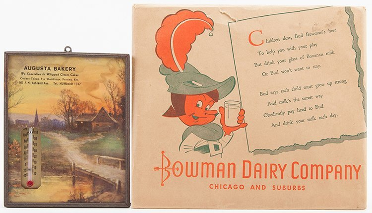 Two Advertising Pieces. Including Bowman Dairy Company