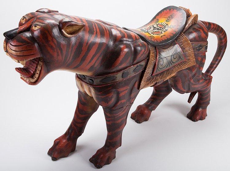 Large Carousel Roaring Lion Figure. Manufacturer