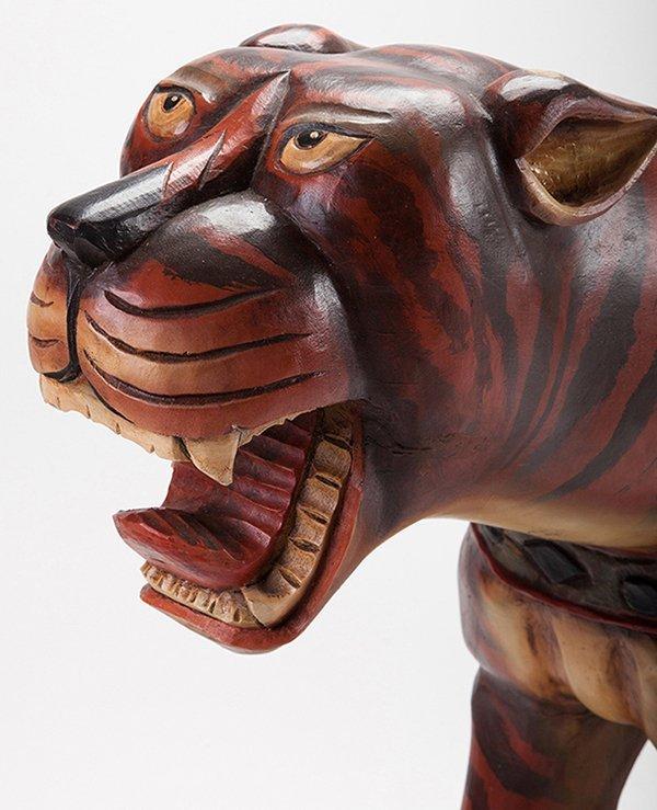 Large Carousel Roaring Lion Figure. Manufacturer - 3