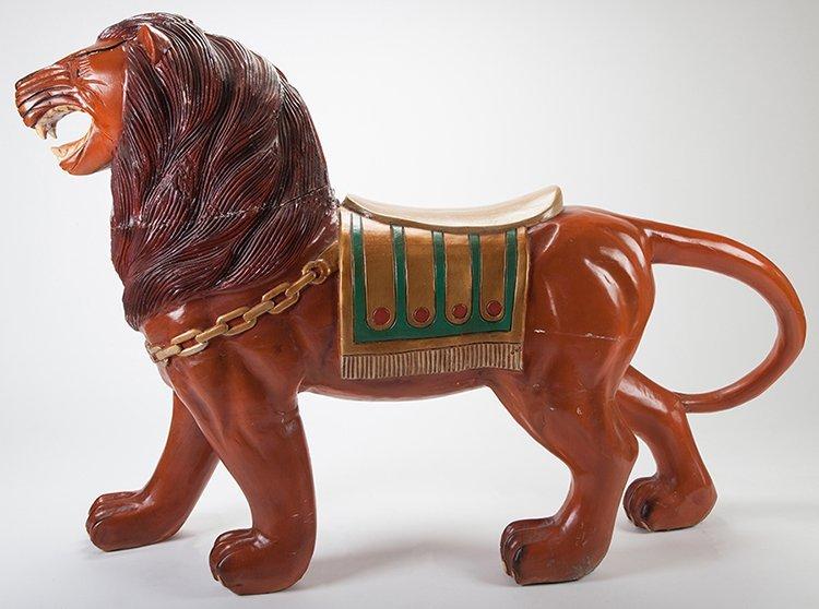 Large Carousel Tiger Figure. Manufacturer unknown, - 2
