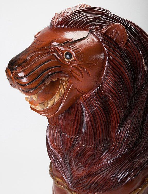 Large Carousel Tiger Figure. Manufacturer unknown, - 3