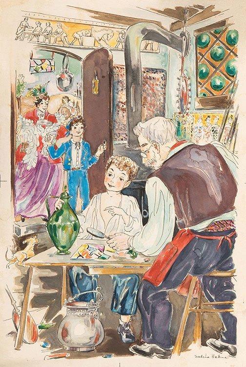 Bahnc, Salcia (Polish-American, 1898 _ 1976). Ink and