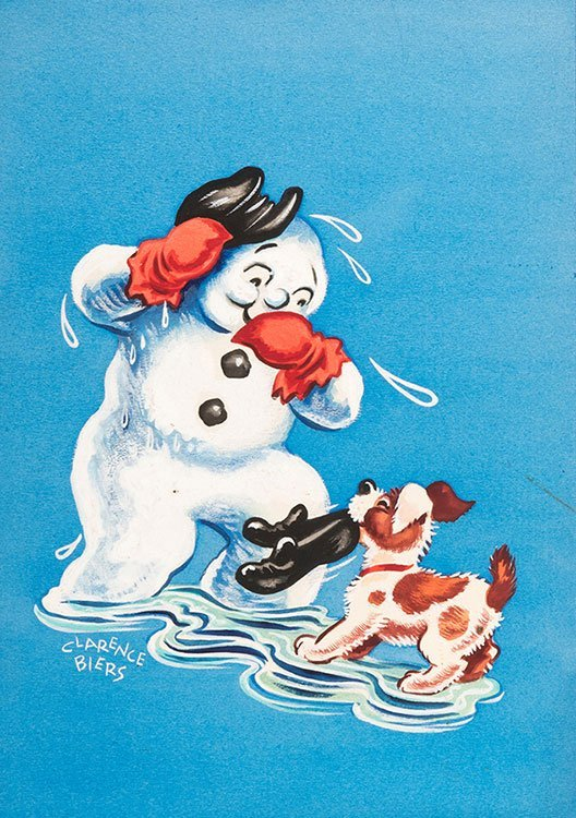 Biers, Clarence (American, 1913-1978). Melting Snowman