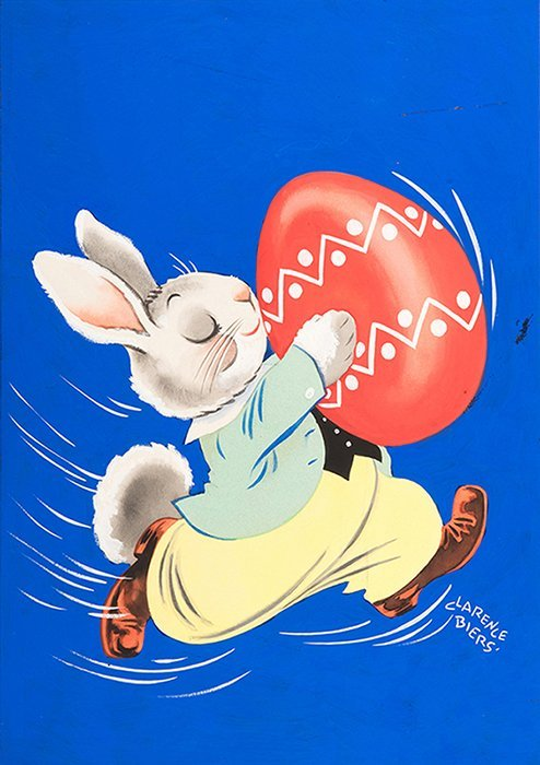 Biers, Clarence (American, 1913-1978). Easter Bunny