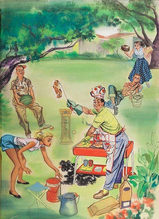 Anonymous. American Backyard Cookout. Circa 1955.