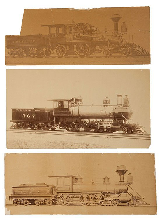Group of Three Large-Format Photographs of Steam