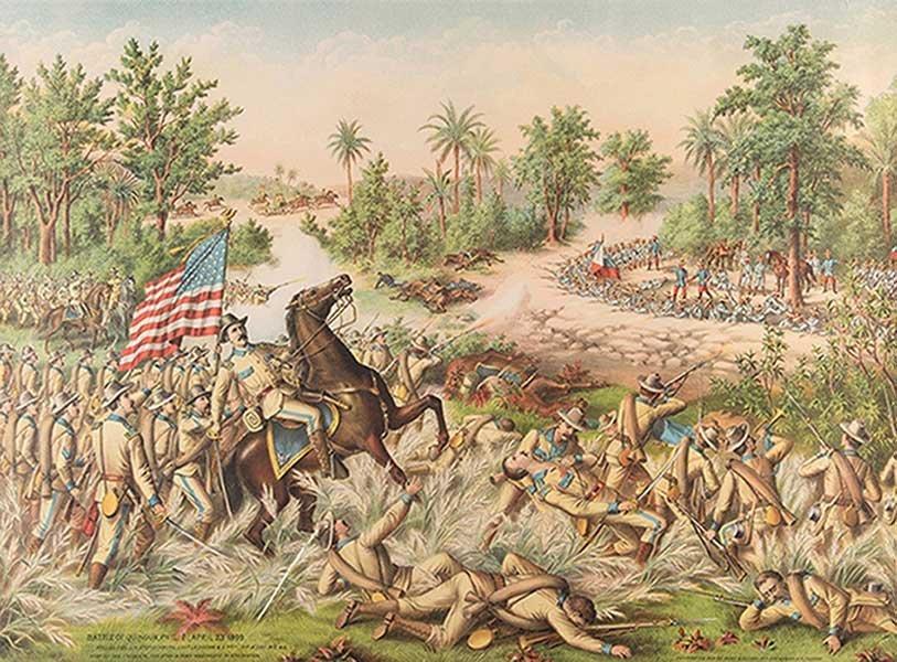 Kurz & Allison. Battle of Quingau. Chicago, ca. 1899.