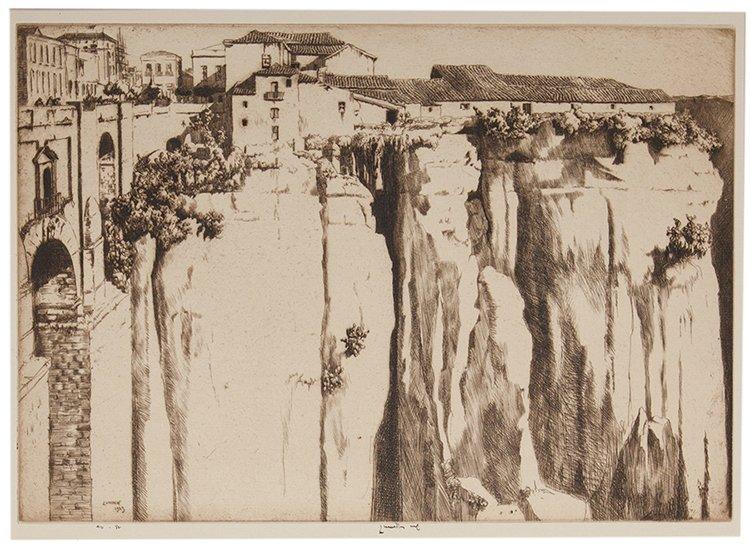 Lumsden, Ernest (British, 1883 _ 1948). Cliffs and
