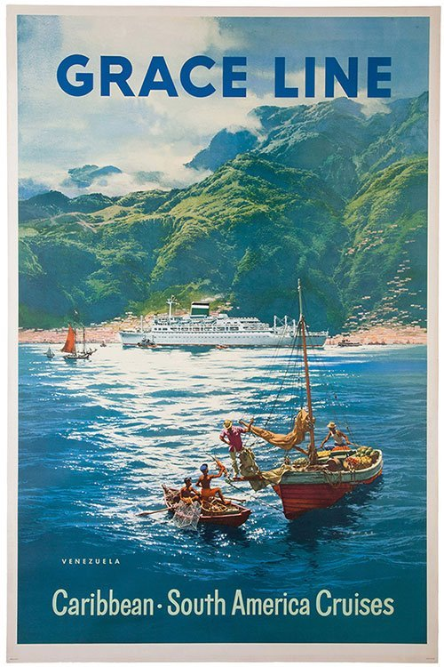 Grace Line: Caribbean, South American Cruises. 1958.